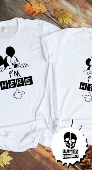 Тениски за двойки Мики и Мини Маус