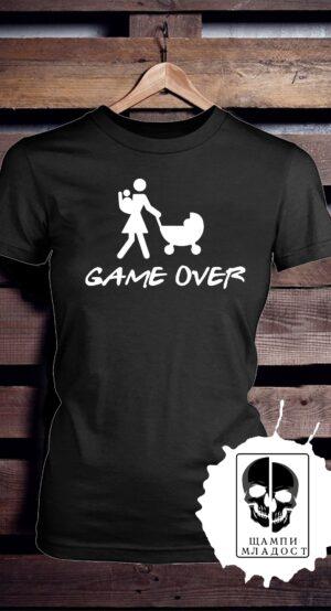 тениска за моминско парти game over