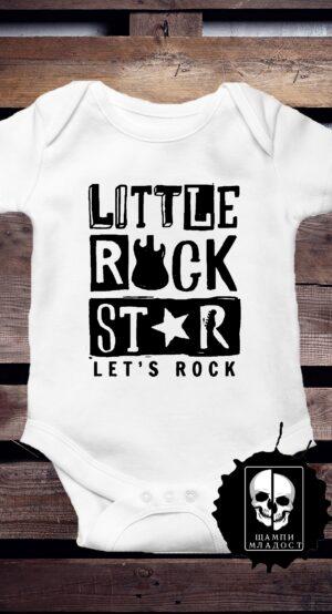 Бебешко боди Little Rock Star