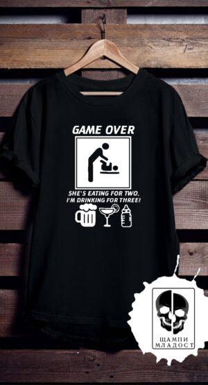 Тениска за Ергенско - I'm drinking for three