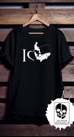 Тениска Обичам риболов