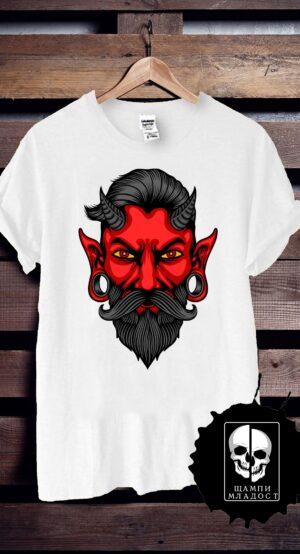 Тениска с принт Devil