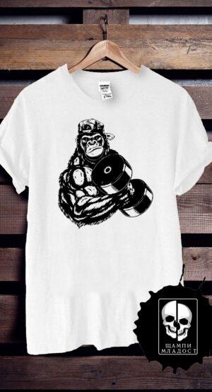 Тениска за фитнес Monkey Strong