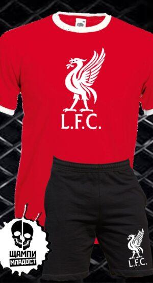 Комплект Тениска и Шорти на Ливърпул