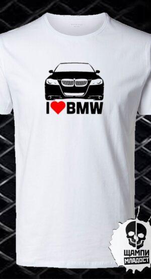 Тениска I Love BMW