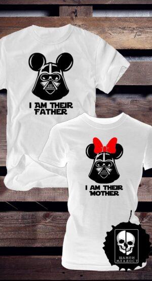 Тениски за двойки Dark Mouse