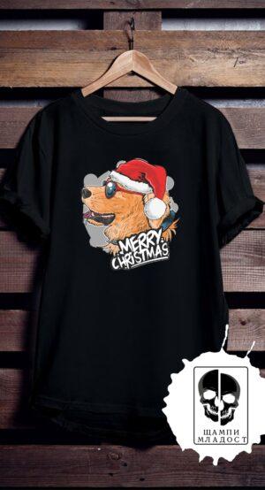 Тениска Dog Merry Christmas