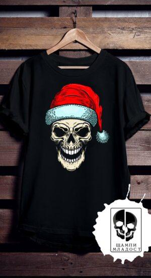 Тениска Bad Skull Christmas