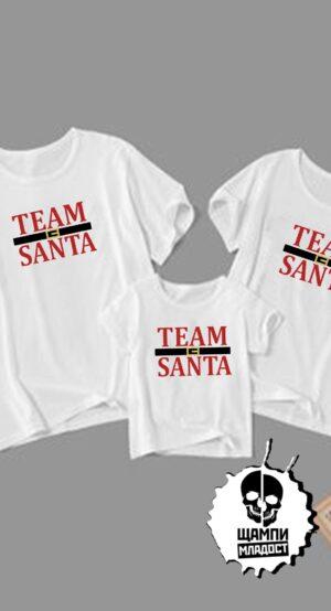 Семейни коледни тениски Team Santa