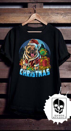 Тениска French Christmas