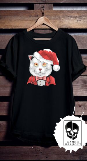 Тениска Cat Christmas