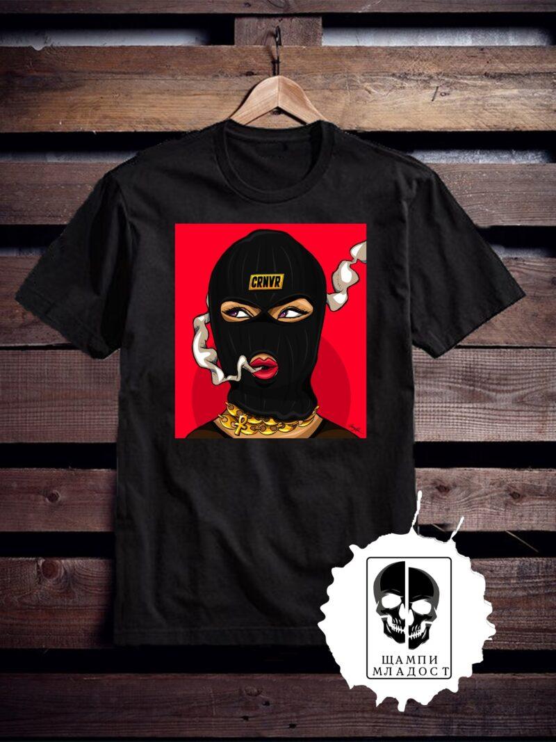 Тениска с принт Mask CRNVR