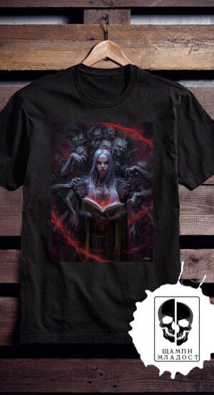 Тениска с принт Девица