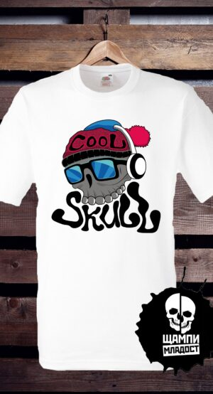 Тениска с принт Cool Skull