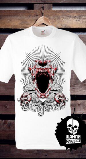 Тениска с принт Dangerous