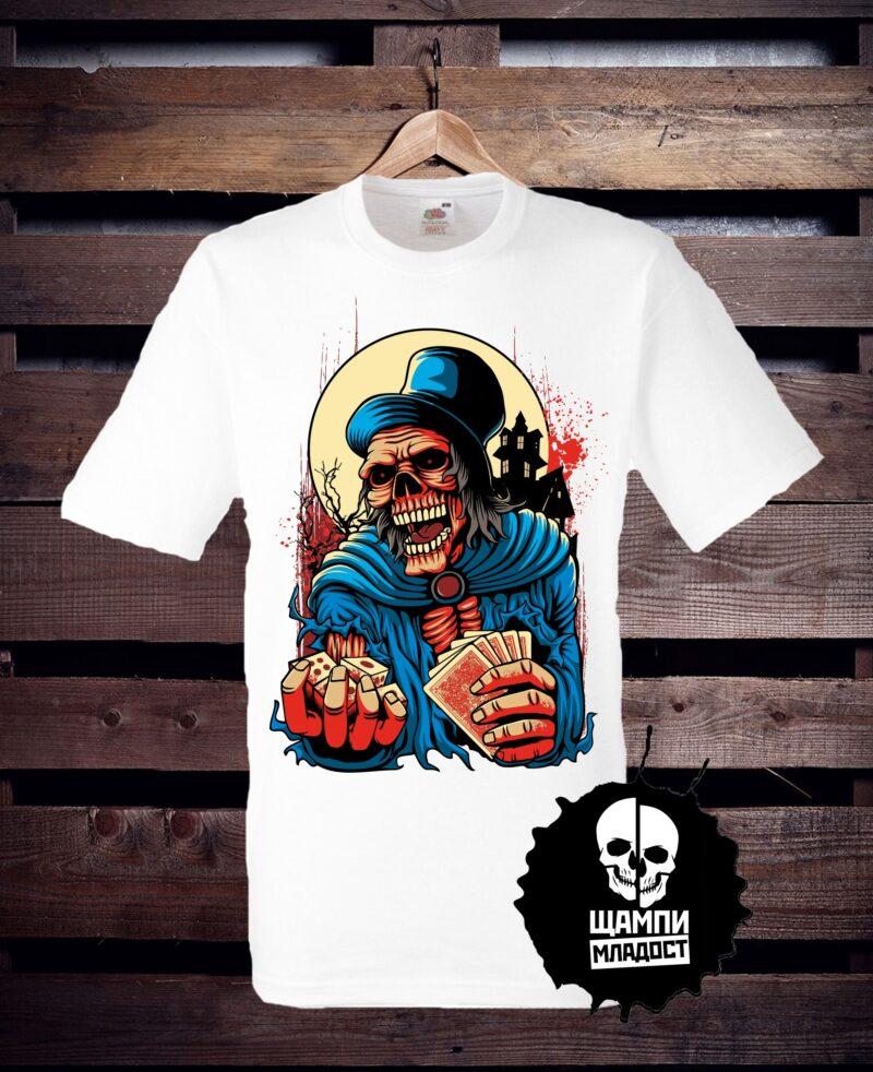 Тениска с принт Хазарт