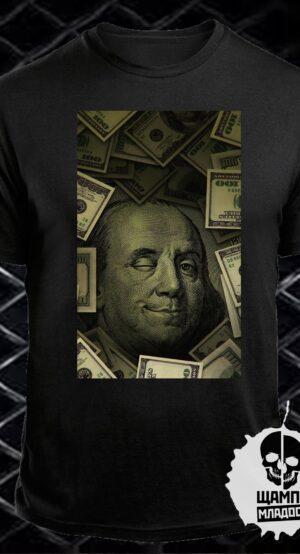 Тениска с принт Benjamin Franklin