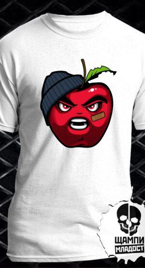 Тениска с принт Bad Apple